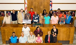 Rugby Hindu Temple group in the Council Chambers